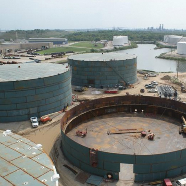 petroleum storage tank facility
